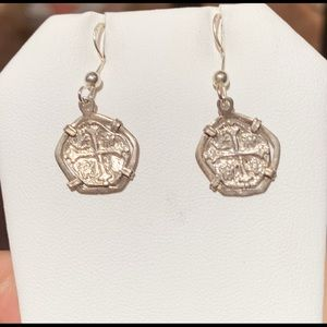 Jewelry - Atocha silver coin ear rings